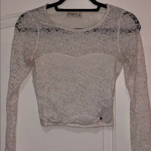All lace with under layer shirt